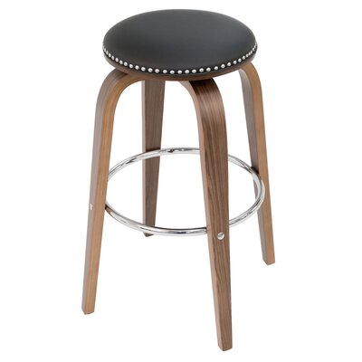 Tidwell 26 Swivel Bar Stool Upholstery: Black