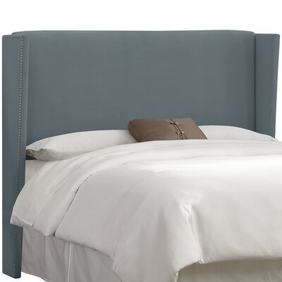 Keeter  Upholstered Wingback Headboard Size: Full, Upholstery: Steel Grey