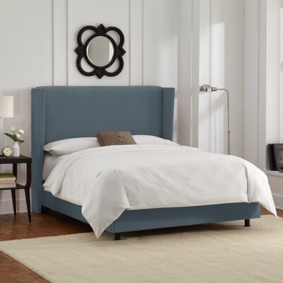Upholstered Panel Bed Size: Full, Color: Ocean
