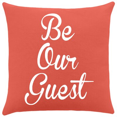 Maziarz Be Our Guest Cotton Throw Pillow Color: Cayenne