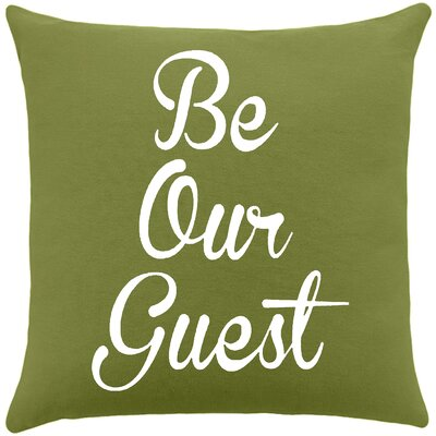 Maziarz Be Our Guest Cotton Throw Pillow Color: Citronella