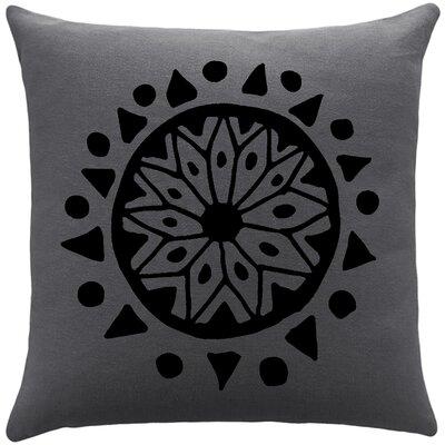 Alcantar Bohemian Cotton Throw Pillow Color: Gunmetal Grey / Black