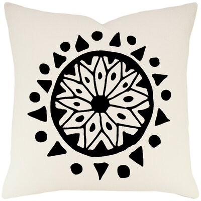 Alcantar Bohemian Cotton Throw Pillow Color: Ivory / Black