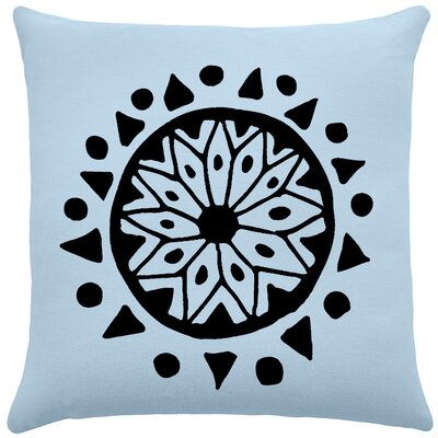 Alcantar Bohemian Cotton Throw Pillow Color: Placid Blue / Black