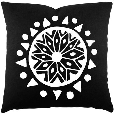 Alcantar Bohemian Cotton Throw Pillow Color: Black / White