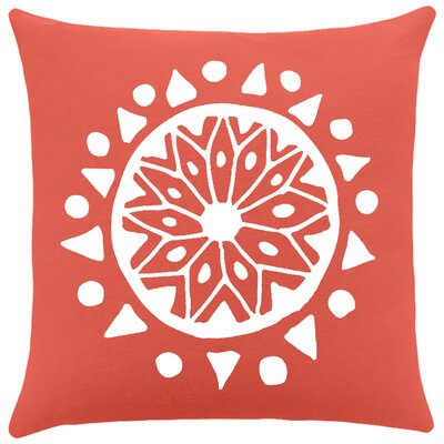 Alcantar Bohemian Cotton Throw Pillow Color: Cayenne / White