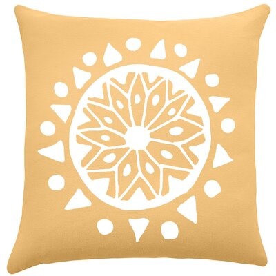 Alcantar Bohemian Cotton Throw Pillow Color: Golden Rod / White