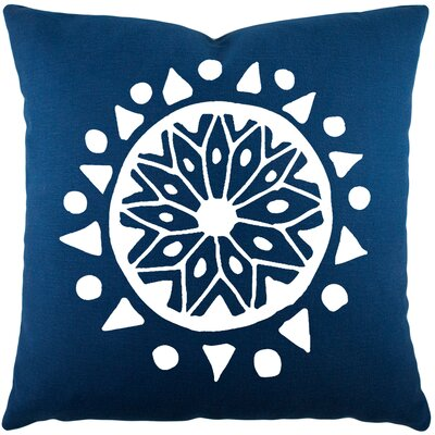 Alcantar Bohemian Cotton Throw Pillow Color: Navy / White