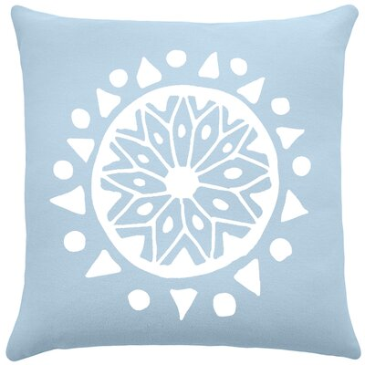 Alcantar Bohemian Cotton Throw Pillow Color: Placid Blue / White