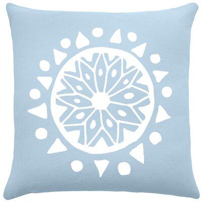 Alcantar Bohemian Cotton Throw Pillow Color: Placid Blue / White