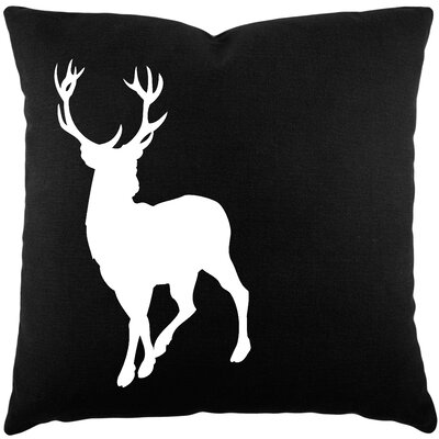 Birkholz Deer Cotton Throw Pillow Color: Black / White BRSD8458 28741521