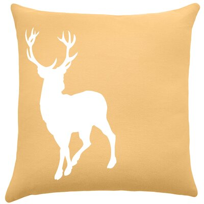 Birkholz Deer Cotton Throw Pillow Color: Golden Rod