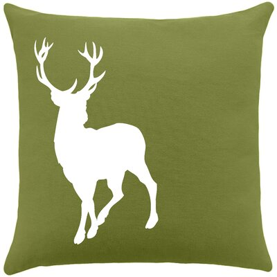 Birkholz Deer Cotton Throw Pillow Color: Citronella
