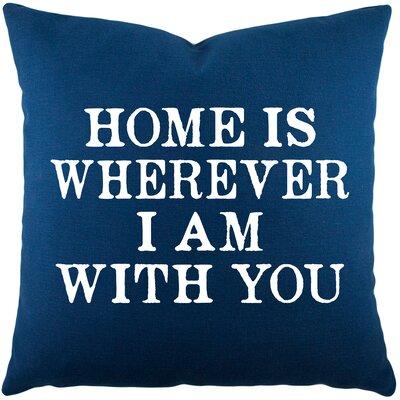 Esteban Home Cotton Throw Pillow Color: Navy