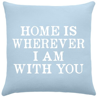 Esteban Home Cotton Throw Pillow Color: Placid Blue