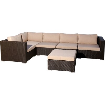 Martinez 6 Piece Sectional Seating Group with Cushion