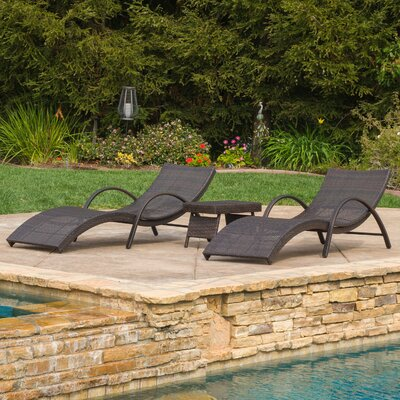 Amezquita 3 Piece Chaise Lounge Set
