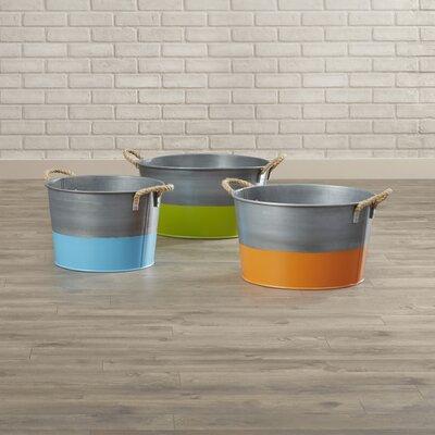 3 Piece Round Bucket Set