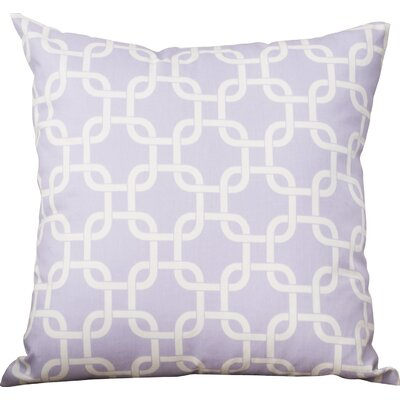 Sessums 100% Cotton Throw Pillow Color: Wisteria, Size: 18 H x 18 W