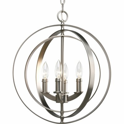 Morganti 4-Light Globe Pendant Finish: Brushed Silver