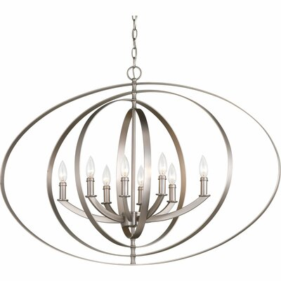 Morganti 8-Light Foyer Pendant Finish: Burnished Silver
