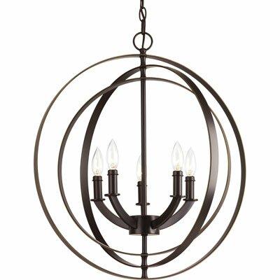 Morganti 5-Light Globe Pendant Finish: Antique Bronze