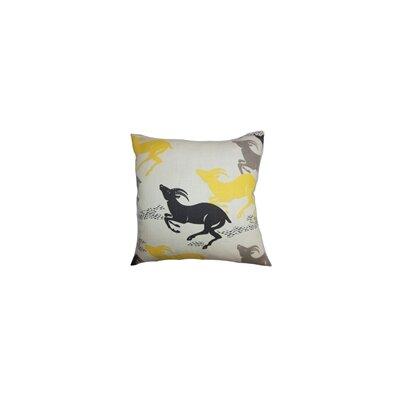 Estelle Animal Print Cotton Throw Pillow Color: Caravan, Size: 18x18
