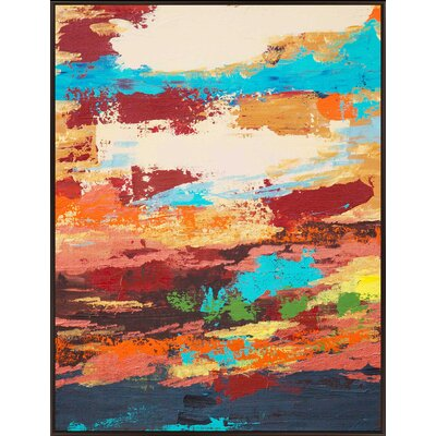 Colored Strokes Painting Print on Wrapped Canvas