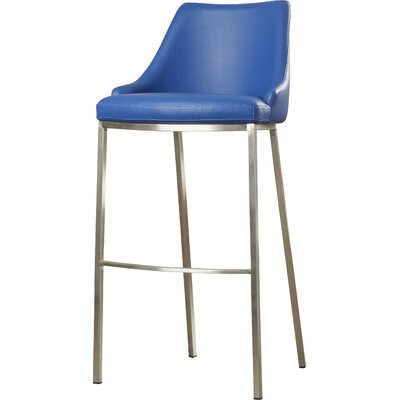 Lipscomb 30 Bar Stool Upholstery: Blue
