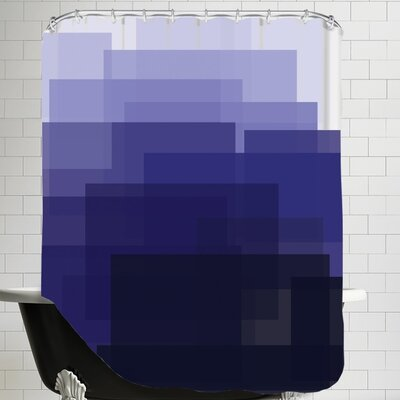 Ashlee Rae Ombre Shower Curtain Color: Indigo