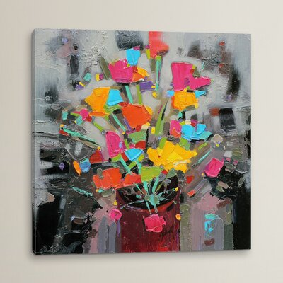 Bouquet of Colour Original Painting on Wrapped Canvas