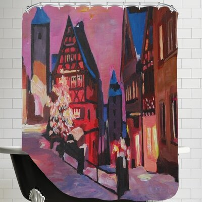 Markus Bleichner Holderman Rothenburg Tauber Winter Dreamland Shower Curtain