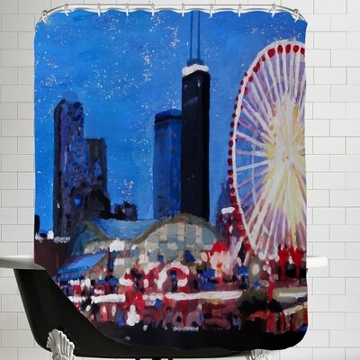 Markus Bleichner Skiba Wheel Shower Curtain