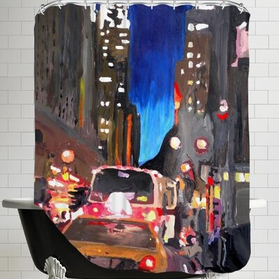 Markus Bleichner Sabella Chrysler Street Scene 2 Shower Curtain