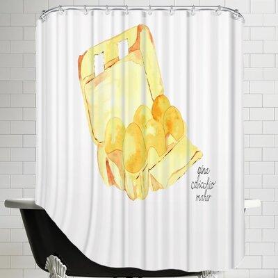 Gina Maher Lipinski Egg Carton Shower Curtain