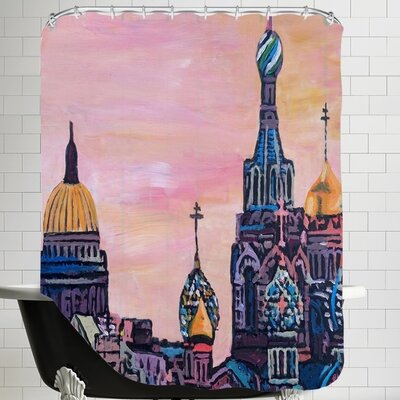 Markus Bleichner Lakes Saint Petersburg with Golden Couples Shower Curtain