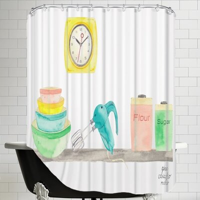 Gina Maher Martinelli Retro Kitchen Shower Curtain