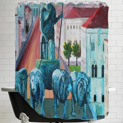 Markus Bleichner Hix Munchen Siegestor Shower Curtain
