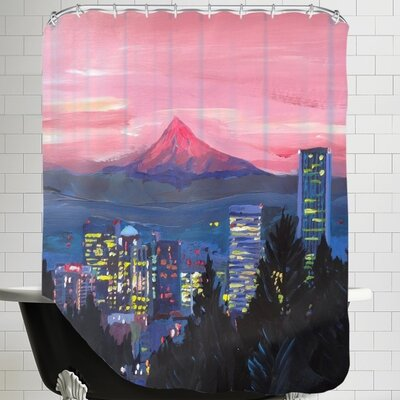Markus Bleichner Portland or Mt Hood Shower Curtain