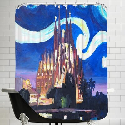 Markus Bleichner Starry Night in Barcelona Shower Curtain