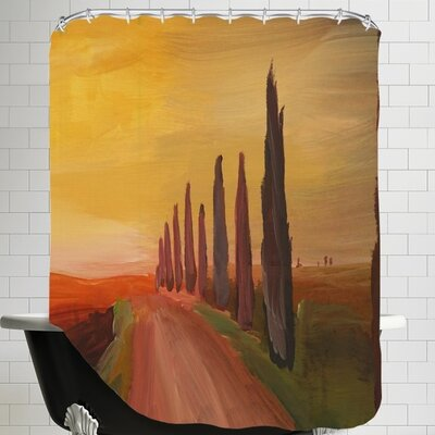 Markus Bleichner Country Road in Tuscany Italy at Sunset Shower Curtain
