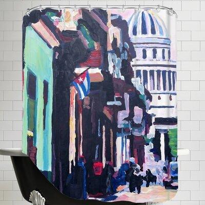 Markus Bleichner Havana Cuba Street Scene Shower Curtain