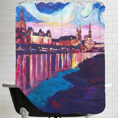 Markus Bleichner Starry Night in Dresden Shower Curtain