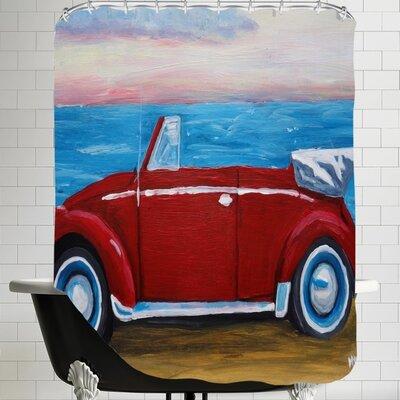 Markus Bleichner Red Bug with Sea Shower Curtain