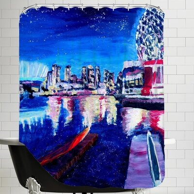 Markus Bleichner Vancouver Skyline at Starry Night Shower Curtain