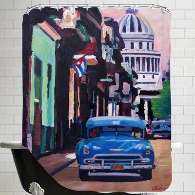 Markus Bleichner Weesner Cuban Old-timer Street Scene in Havanna Cuba with Buena Vista Feeling Poster 2 Shower Curtain