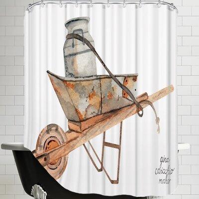 Gina Maher Wheel Barrow Shower Curtain