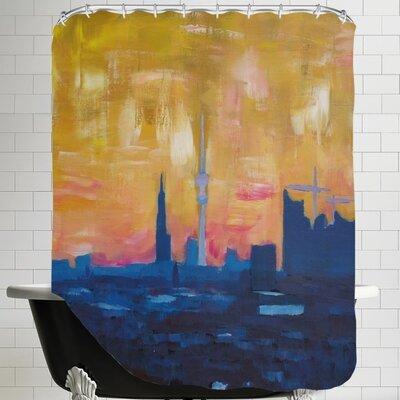 Markus Bleichner Skyline Dusk 2 Shower Curtain