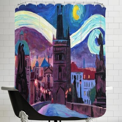 Markus Bleichner Starry Night in Prague Shower Curtain