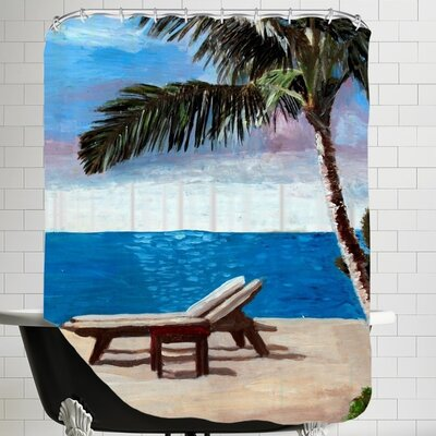 Markus Bleichner Strand Chairs on Caribbean Beach Shower Curtain